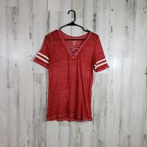 5/$25 SO red burnout tshirt size small